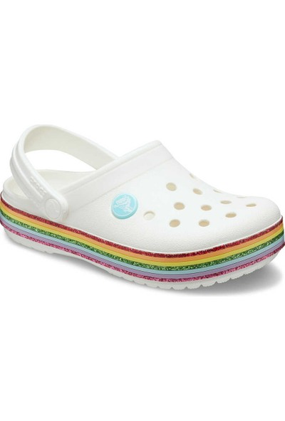 Crocs Crocband Rainbow Glitter Clg K Çocuk Terlik 27-28