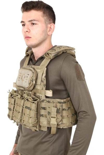 Sword Tactical Balistik Plaka Takılabilen Açık Cepli Jandarma Kamuflaj Hücum Yeleği