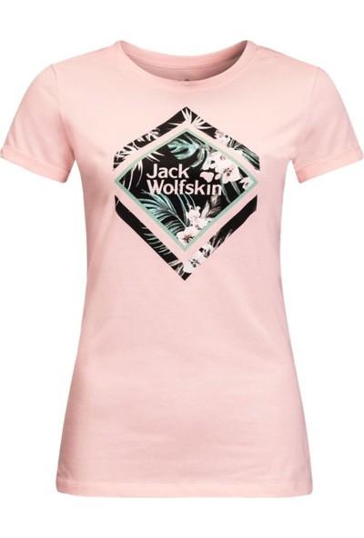 Jack Wolfskin Tropical Square T W Kadın T-Shirt XS