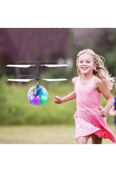 Tamam Elektronik Uçan Disko Topu Işıklı Mini Drone Uçan Top Daire Helikopter