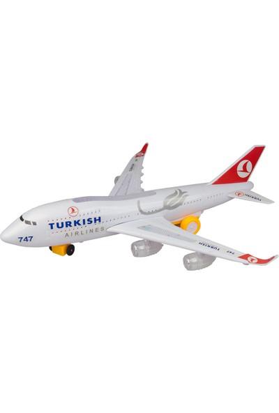 Hobimtek Türk Hava Yolları A747 Oyuncak Uçak Işıklı Hareketli Orta Boy