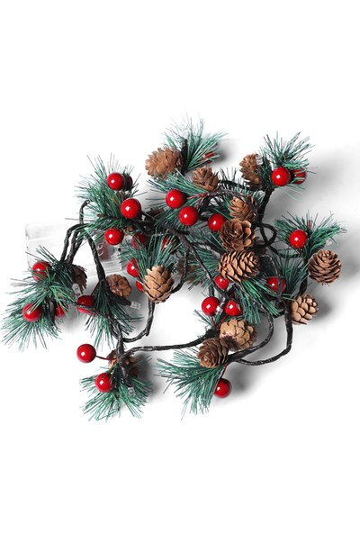 Mbw Çam Kozalakları Jingle Bell Led Noel Dize Işıkları (Yurt Dışından)