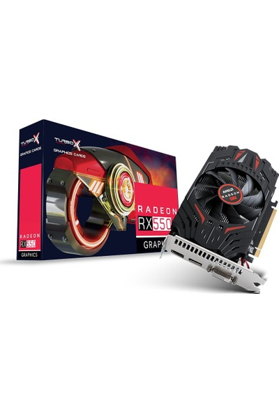 Turbox Amd Radeon Rx 550 2 GB Gddr5 128 Bit HDMI Directx 12 Ekran Kartı RX5502GB