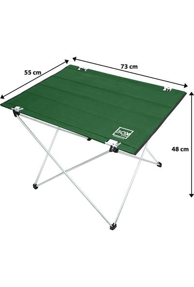 Box&Box Omuz Askılı, Katlanabilir Kamp ve Piknik Masası 73x55x48 cm