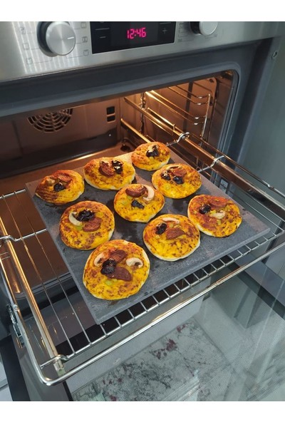 Mermer Mutfak Doğal Bazalt Fırın Pişirme Taşı