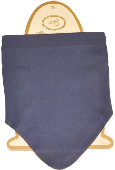 Tomuycuk Bebe Tomuycuk Pamuklu Lacivert Penye Çıtçıtlı Erkek Bebek Fular Önlük