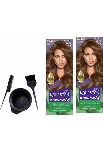Wella Koleston Naturals Saç Boyası 50 ml 7/0 Kumralx2 Adet+Boyama Seti