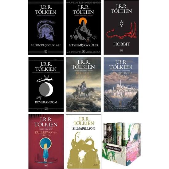 İthaki Yayınları 13 Kitap Set Yüzüklerin Efendisi - Hurin'in Çocukları - Bitmemiş Öyküler - Hobbit - Roverandom - Beren ile Luthien - Gondolin'in Düşüşü-Silmarillion-Tolkien Mirası-Kullervo