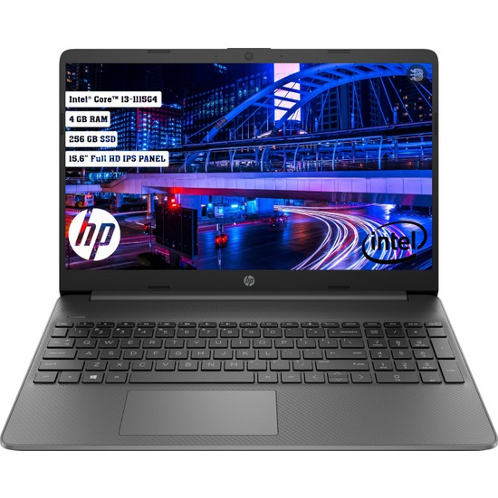 "HP 15S-FQ2045NT Intel Core i3 1115G4 4GB 256GB SSD Freedos 15.6"" FHD Taşınabilir Bilgisayar 2N2N8EA"