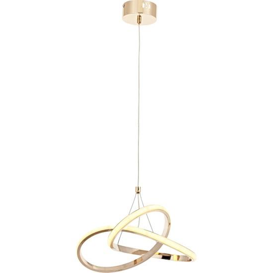 Luna Lighting Tekli LED Spor Modern Gold Avize