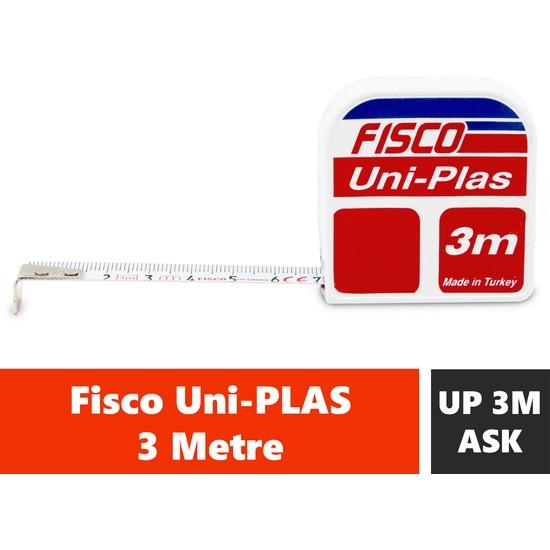 Fisco Uniplas | 3 Metre Askılı Çelik Kısa Şerit Metre | UP3M/ASK