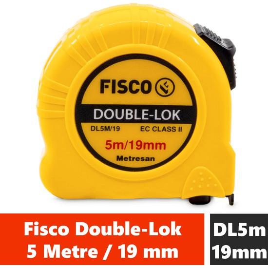 Fisco Double-Lok | 5 Metre / 19 mm Çelik Şerit Metre | DL5M/19MM