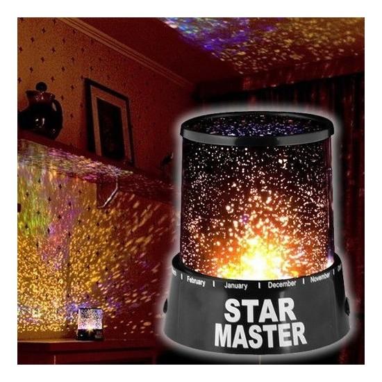 Artı Değer Star Master Gece Lambası Renkli Yıldızlı Gökyüzü Projeksiyon Yansıtmalı Çocuk Bebek Odası Lamba