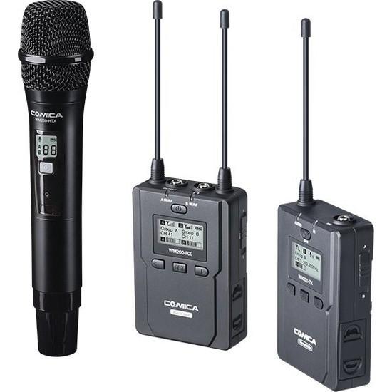 CVM-WM200B Çifli Bir El Bir Yaka Mikrofonu 96 Kanal 120M