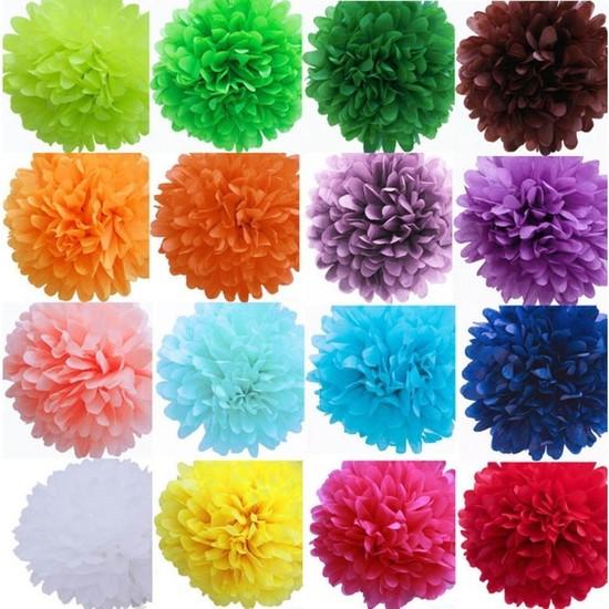 Kullanatparty Pelur Kağıt Ponpon Çiçek Asma Süs Siyah Renk