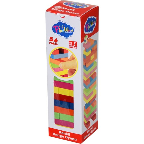 310-ONY Kutuda Renkli Ahşap Denge Oyunu