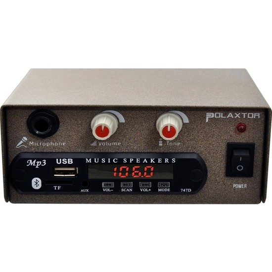 Polaxtor Pazarcı Anfisi 12V 50W Usb/sd/fm Bluetooth Yerli Polaxtor