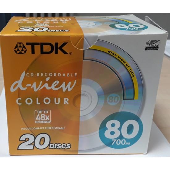 Tdk 48X 80MIN/700MB 20Lİ Slim Kutulu Paket