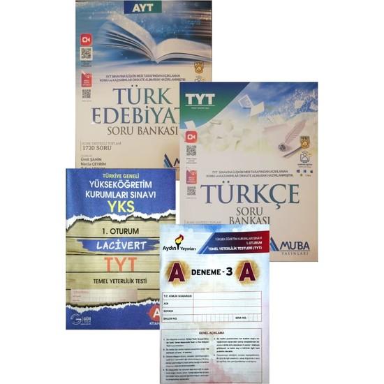 Muba Yayınları TYT+AYT Türkçe+Edebiyat Soru Bankası (Aydın+Gür Denemeli)