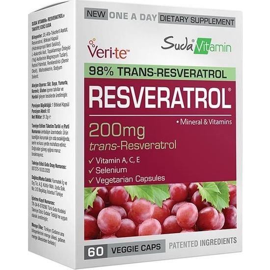 Suda Vitamins Resveratrol 60 Bitkisel Kapsül