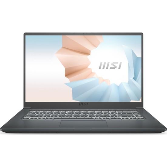 """MSI Modern 15 A10RBS-629XTR Intel Core i5 10210U 8GB 512GB SSD MX350 Freedos 15.6"""" FHD Taşınabilir Bilgisayar"""