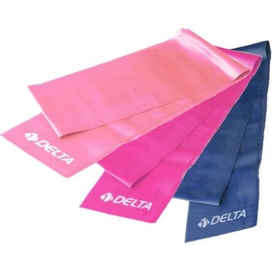 Delta 3 Adet Pilates Bandı Plates Egzersiz Direnç Lastiği Seti
