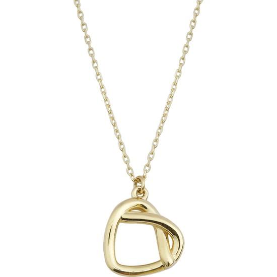 Melike Gold 14 Ayar Altın Düğüm Kalp Kolye