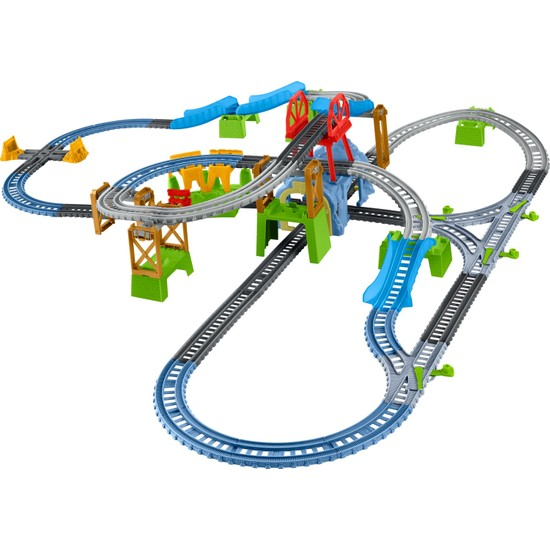 Thomas Ve Arkadaşları Trackmaster Percy Büyük Macera Oyun Seti (Motorlu Trenli) 6 Farklı Kurulum Percy Oyuncak Tren Mağara Köprü Ve Tünel Parçaları Dahil Gbn45