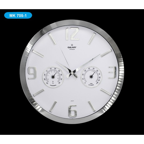 Galaxy MK705-1 Premium Termometreli Duvar Saati