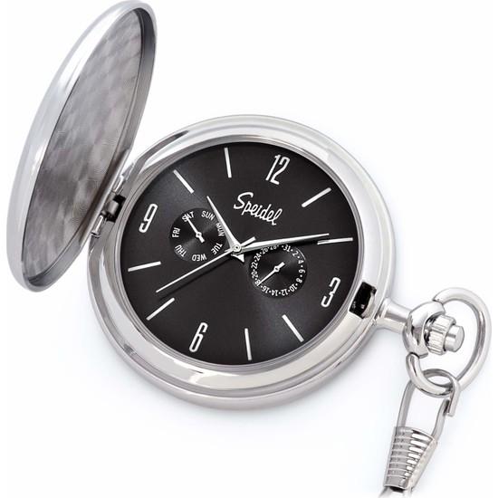 Speidel 35503100 Gümüş Siyah Köstekli Cep Saati