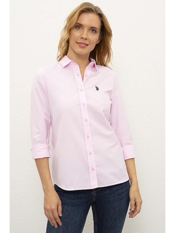 U.S. Polo Assn. Pembe Gömlek Uzunkol Basic 50237226-VR041