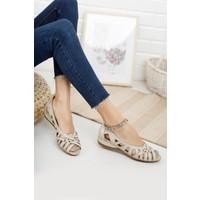 Diego Carlotti Hakiki Deri Kadın Günlük Sandalet Babet