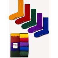 Neşeli Çoraplar 5'li Rengarenk Düz Renkli Çorap Set
