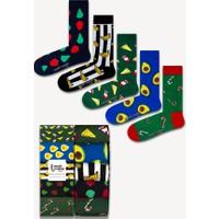 Neşeli Çoraplar 5'li Yemekler ve Meyveler Renkli Çorap Seti