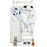 Sare Baby Sarebaby Sevimli Panda Erkek Bebek Bornoz Takımı Yeni Sezon