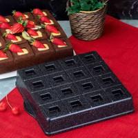 Taç 6597 Brownie Döküm Granit Kek Kalıbı Siyah
