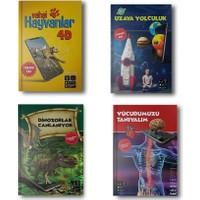 Artge Kids Yayınları 4 Boyutlu Kitap Seti 4 Kitap Uzay Vücudumuz Dinozorlar Vahşi Hayvanlar