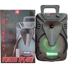 Glr Tech Kts KTS-1209 8'' Mikrofonlu Taşınabilir Şarjlı Bluetooth Hoparlör