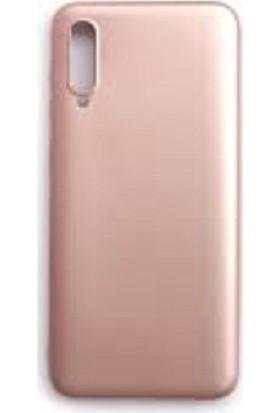 Soffany Samsung Galaxy A30S Rose (Gül Kurusu) Esnek Polikarbon Rubnice Kılıf ve Rinbo Kırılmaz Cam