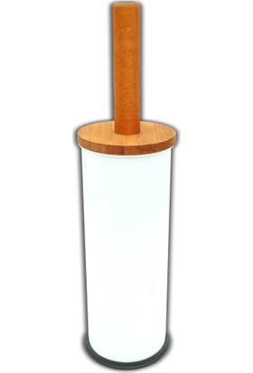 Metropol Ahşap Saplı Wc Fırçası Metal Düz Beyaz 489