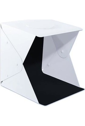 Azemax Ürün Fotoğraf Çekim Çadırı Çantalı Mini Stüdyo 40X40 cm Ledli Çadır