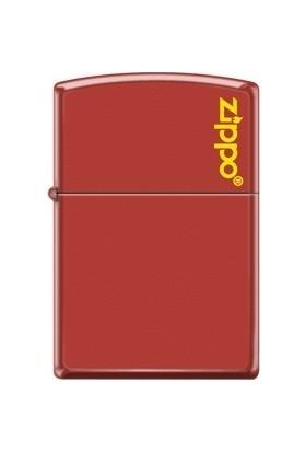 Zippo Red Matte Logo Çakmak