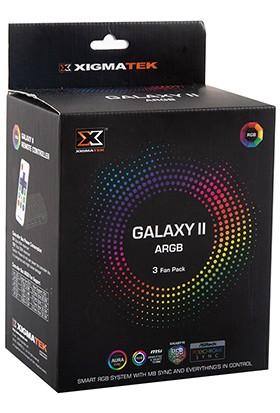Xigmatek EN42098 Galaxy II Elite ARGB Fan Panel + Kumandalı Kasa Fan Kiti