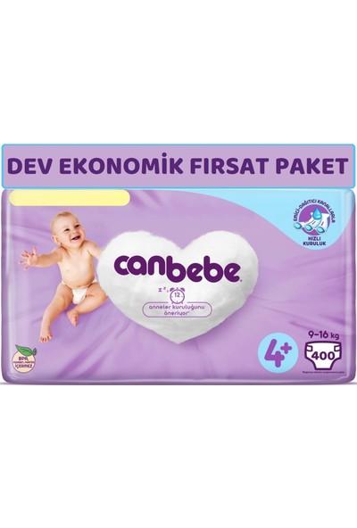 Canbebe Bebek Bezi Beden:4+ (9-16KG) Maxi Plus 400'lü Dev Ekonomik Fırsat Paketi