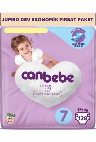 Canbebe Bebek Bezi Beden:7 (17+Kg) Xx Large 128'li Jumbo Dev Ekonomik Fırsat Paketi