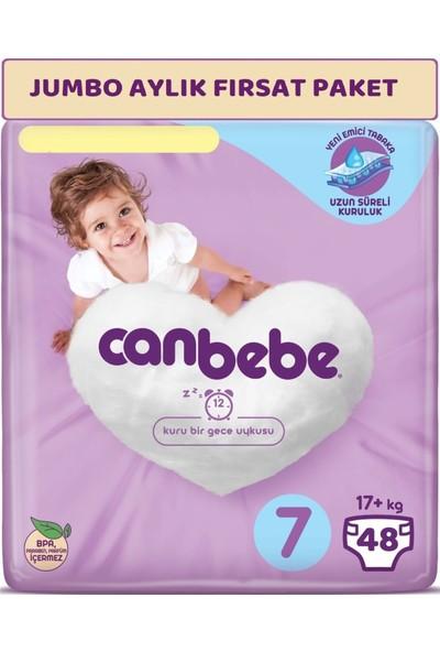 Canbebe Bebek Bezi Beden:7 (17+Kg) Xx Large 48'li Jumbo Aylık Fırsat Paketi