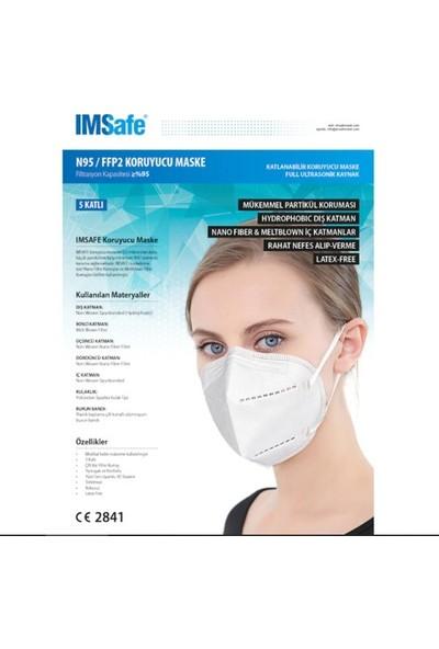 Safe Imsafe Ffp2 5 Katmanlı Meltblown Kumaş 1 Kutu - 10 Adet Maske
