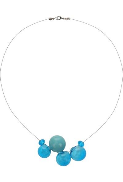 Cen Cam Mavi Balon Kolye