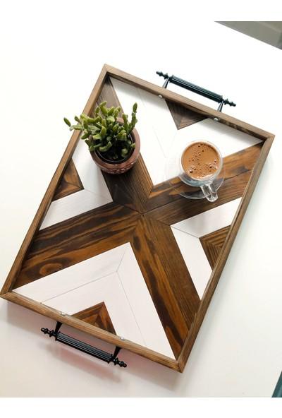 Wood Log Art Studio Masif Ahşap Dekoratif Sunum Tepsisi