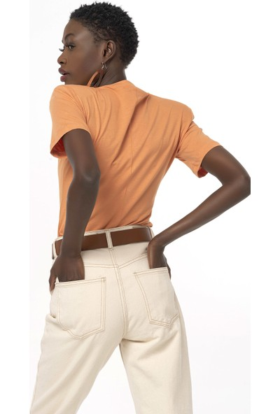 Coral Pamuklu T-Shirt Body Bej